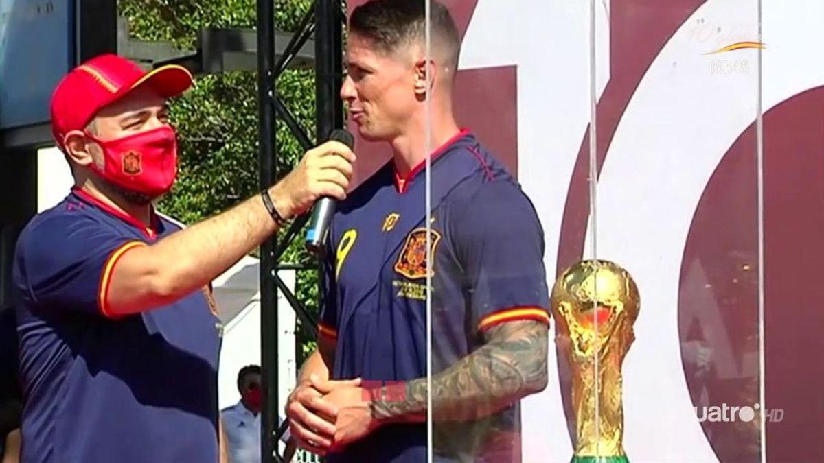 """El homenaje al Mundial con la presencia de Fernando Torres: """"Fue un momento de unión increíble en el país"""""""