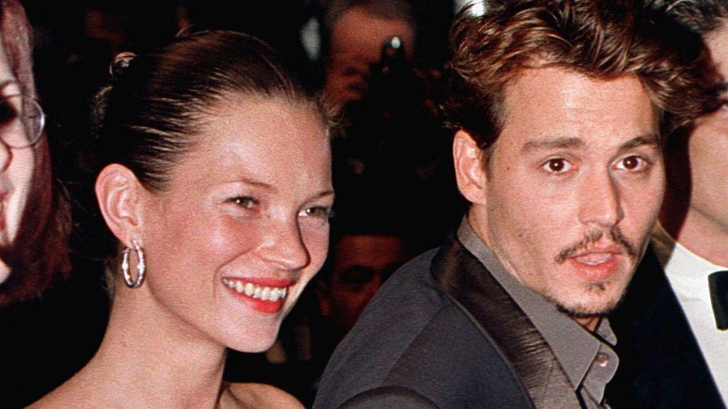Johnny Depp, cuando era pareja de Kate Moss
