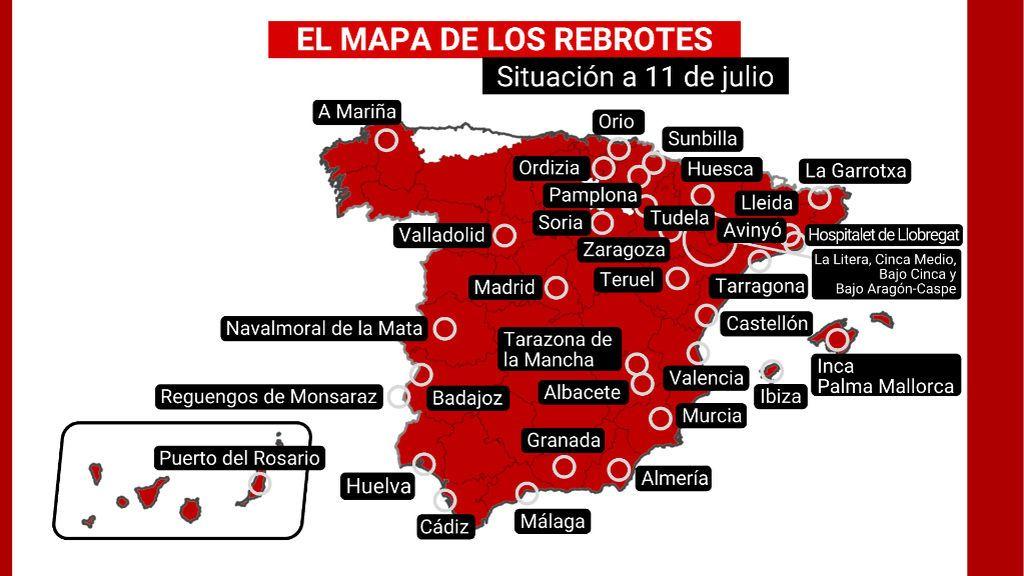 mapa rebrotes 11 de julio