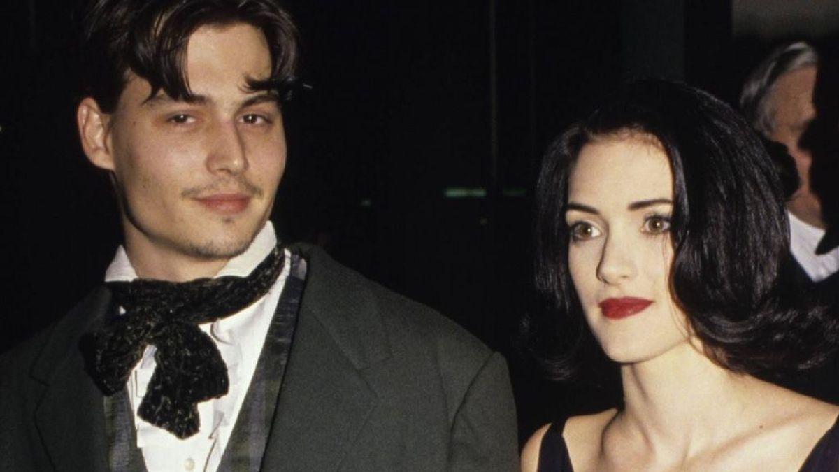 Johnny Depp y Winona Ryder, en los Globos de Oro de 1991
