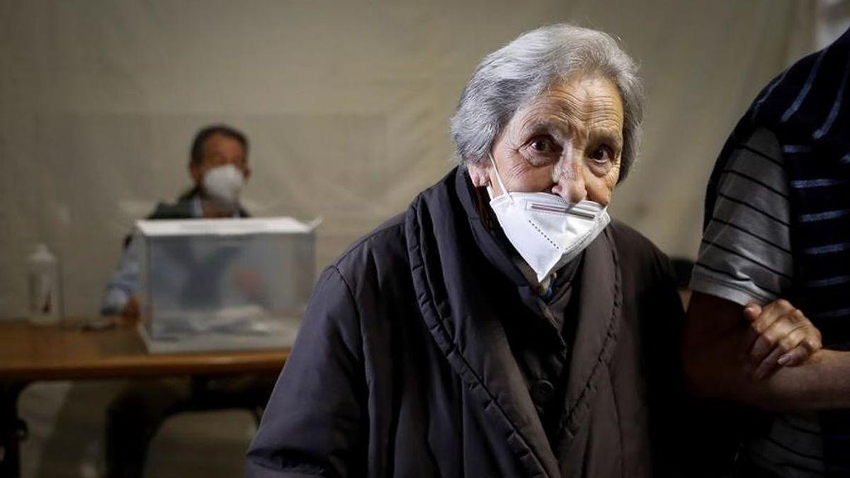 Juanita, el rostro de la falta de miedo en Ordizia a sus 100 años, votó