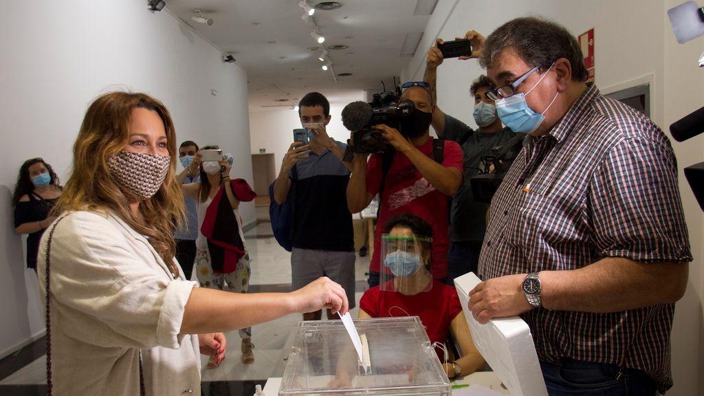 a candidata a la presidencia de la Xunta de Galicia por Ciudadanos Beatriz Pino