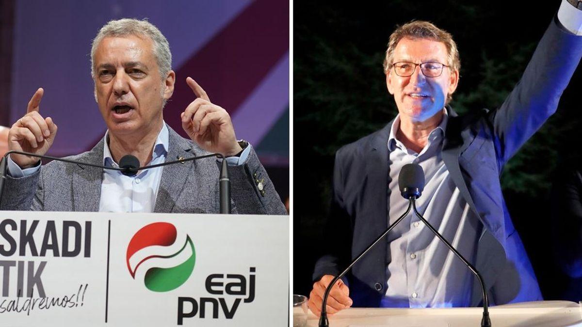 Feijóo consigue su cuarta mayoría absoluta y Urkullu gobernará con los socialistas