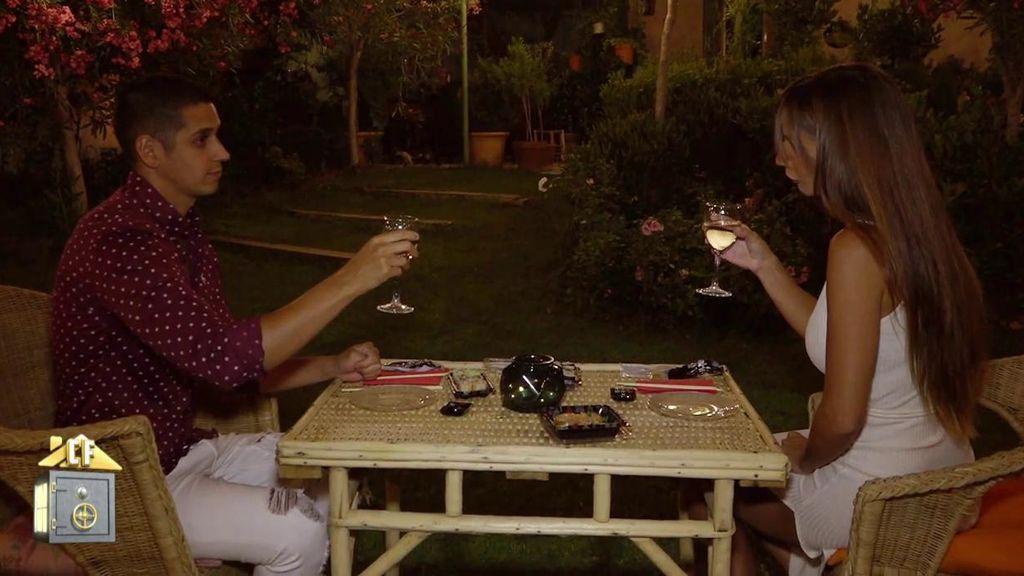 La cena de Fani y Christofer