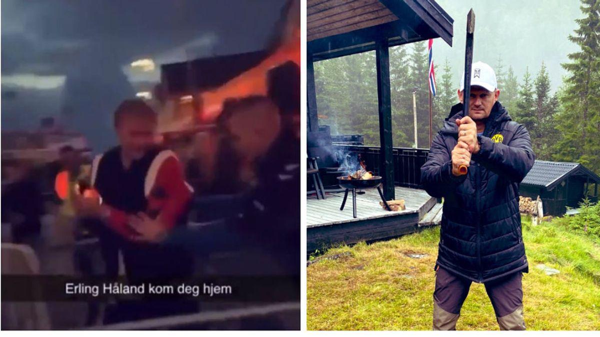 """Echan a Haaland de una discoteca en Noruega y su padre le regaña públicamente: """"Vamos, ponte a trabajar"""""""