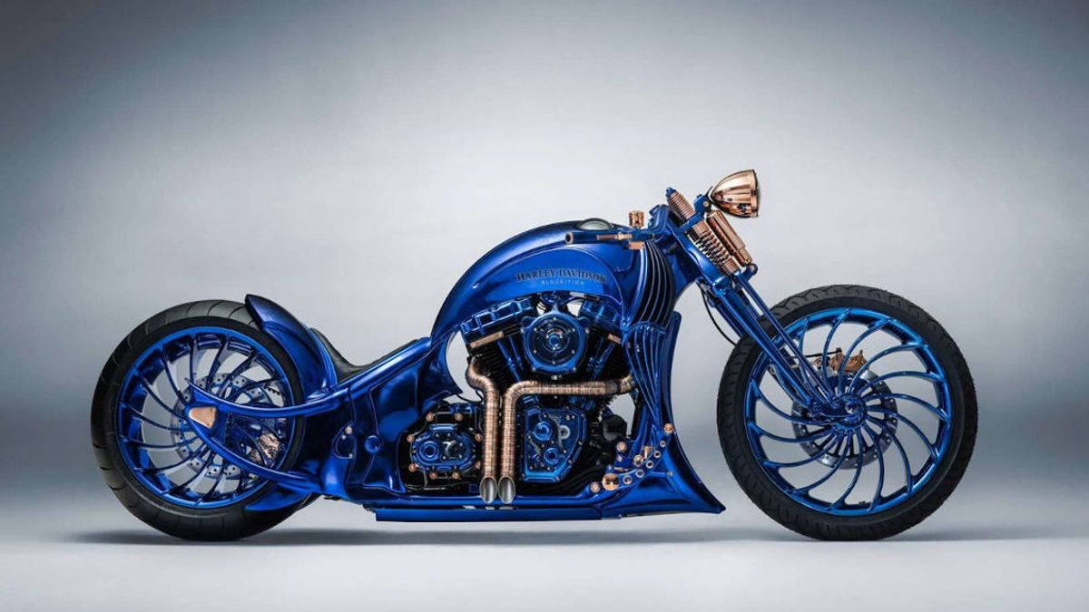 Así es la Harley-Davidson de oro, diamantes y piedras preciosas de un millón de dólares