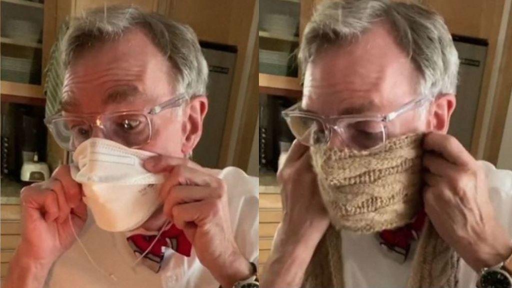 """""""Si no puedes apagar la vela, la mascarilla te protege"""": el experimento de Bill Nye que han visto millones de personas"""