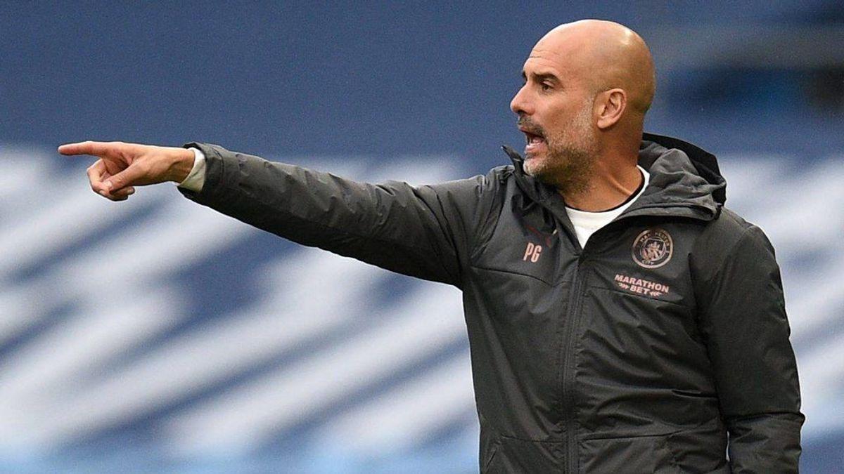 Pep Guardiola, en un partido del Manchester City.