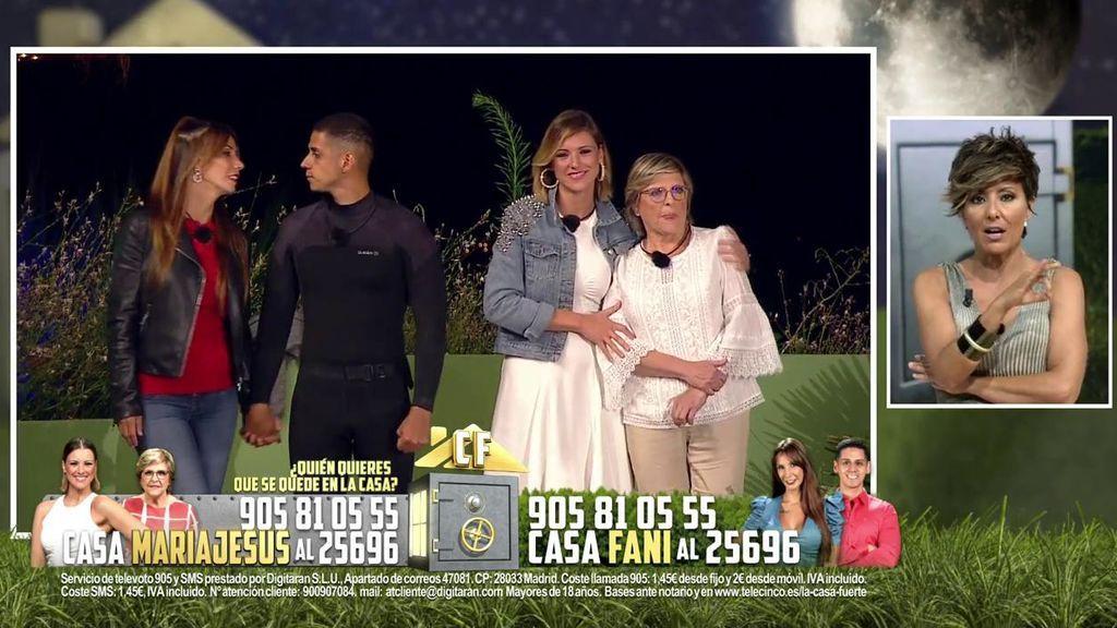 María Jesús y Juani se enfrentarán en el asalto contra Christofer y Fani