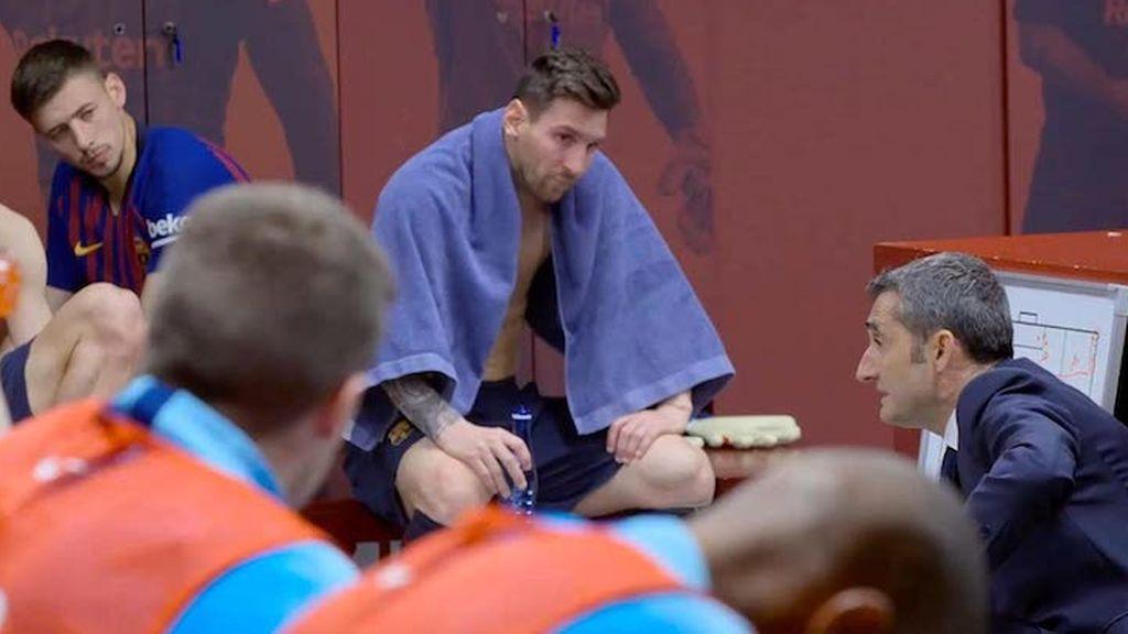 Imagen de Messi en el vestuario del documental sobre el FC Barcelona Matchday