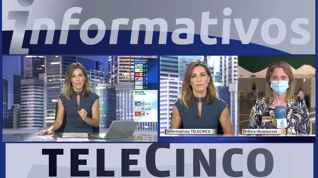 Informativos Telecinco, referencia informativa en la jornada electoral en Galicia y País Vasco
