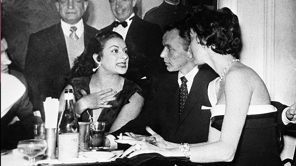 Ava Gardner en una de esas noches locas por Madrid junto a Lola Flores y Frank Sinatra