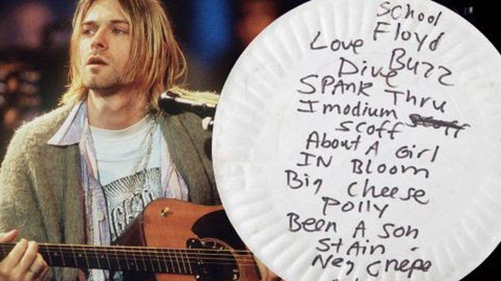 Plato de papel Kurt Cobain
