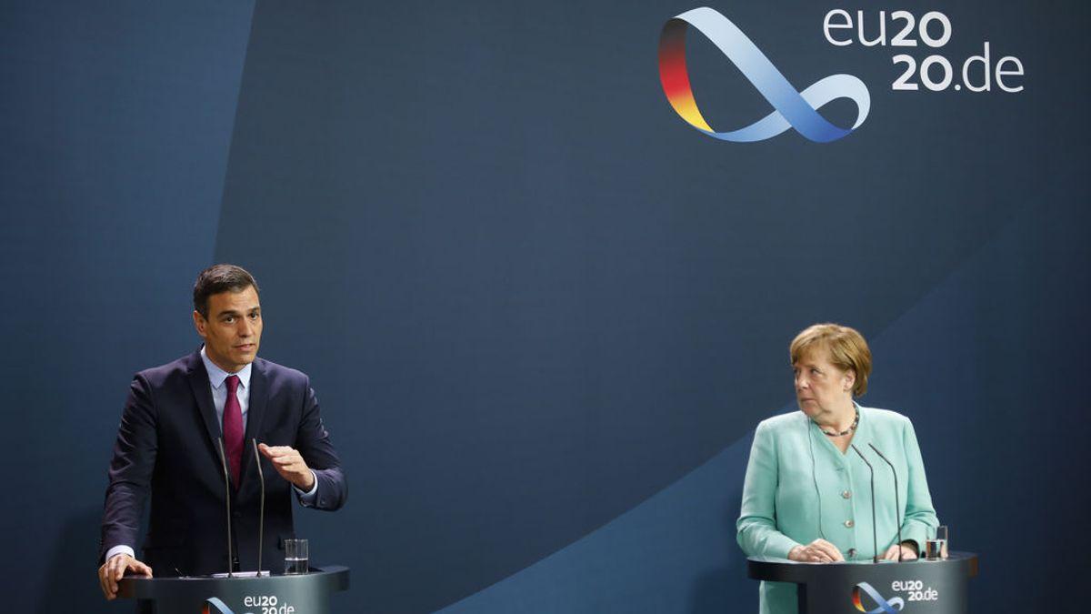 Merkel y Sánchez defienden en Berlín un acuerdo europeo que frene la crisis de la COVD-19 cuanto antes