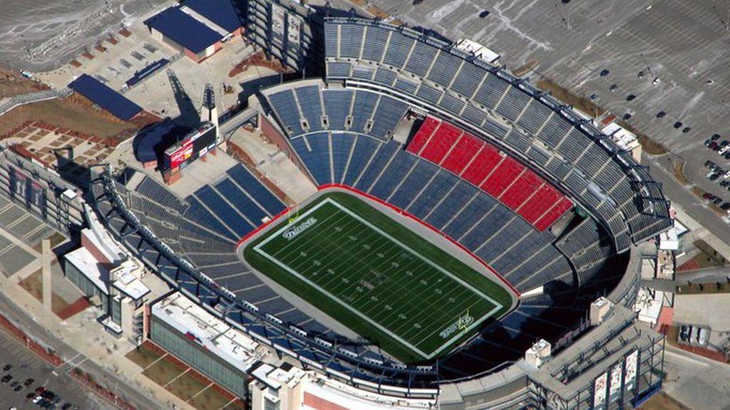 vista aérea del Gillete Stadium donde juega los New England Patriots