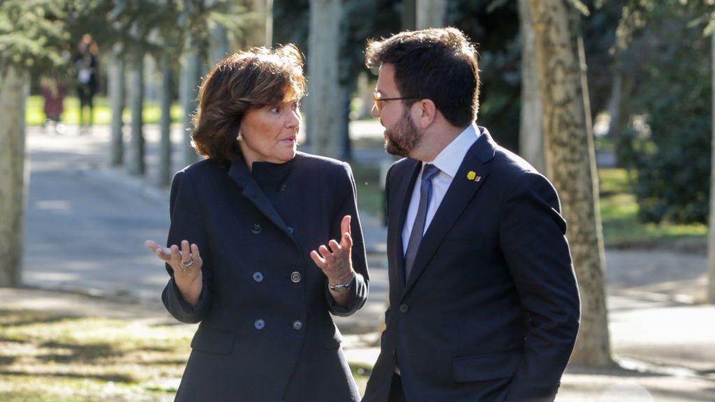 La vicepresidenta Calvo recomendó a la Generalitat recurrir el auto de la juez de Lleida que prohibía el confinamiento
