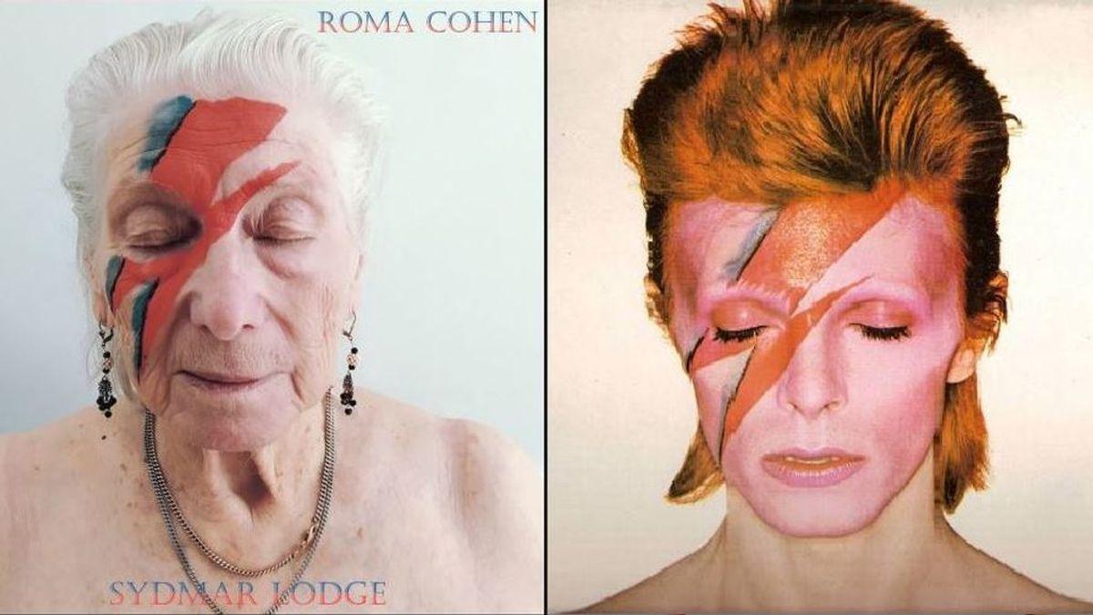 Bowie, Springsteen o Queen: un fotógrafo entretiene a los ancianos de una residencia recreando míticas portadas de discos