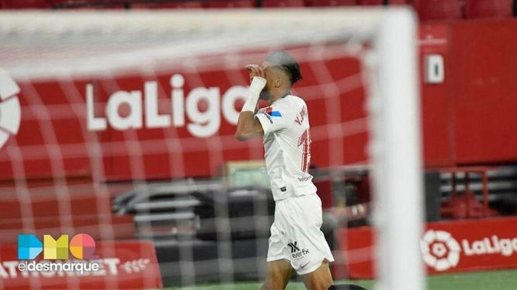 En-Nesyri, tras marcar en el Sevilla-Mallorca