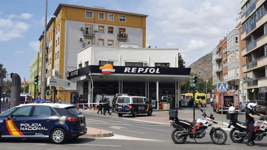 Explosión en una gasolinera en Cartagena