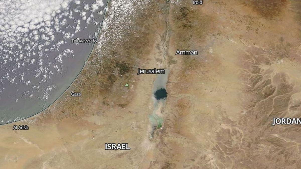 El fenónemo que da la falsa impresión de que el Mar Muerto casi se ha secado