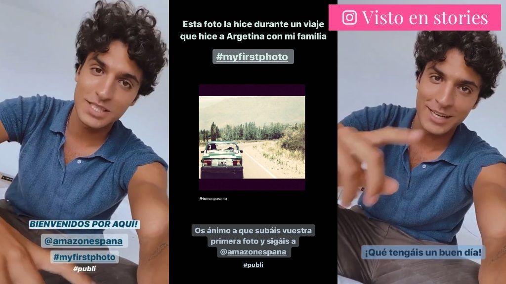 Tomás Páramo comparte su primera foto en Instagram