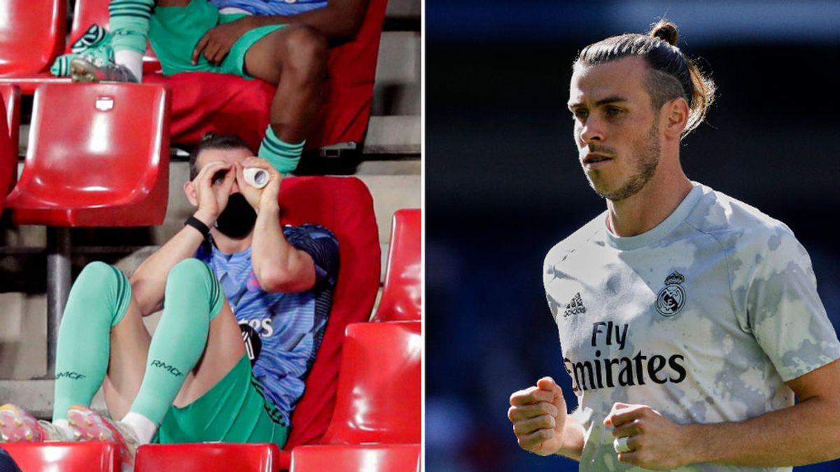 Los mil y un desplantes de Bale y el que faltaba: simulando unos prismáticos para espiar a su equipo