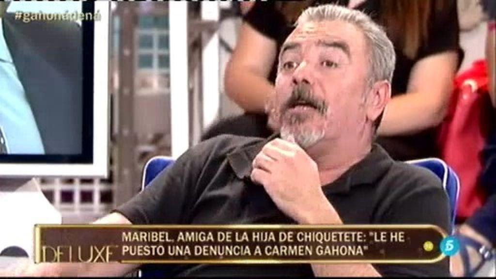 """Pepe, amigo de Chiquetete: """"Gahona me ha pegado con una morcilla en la espalda"""""""
